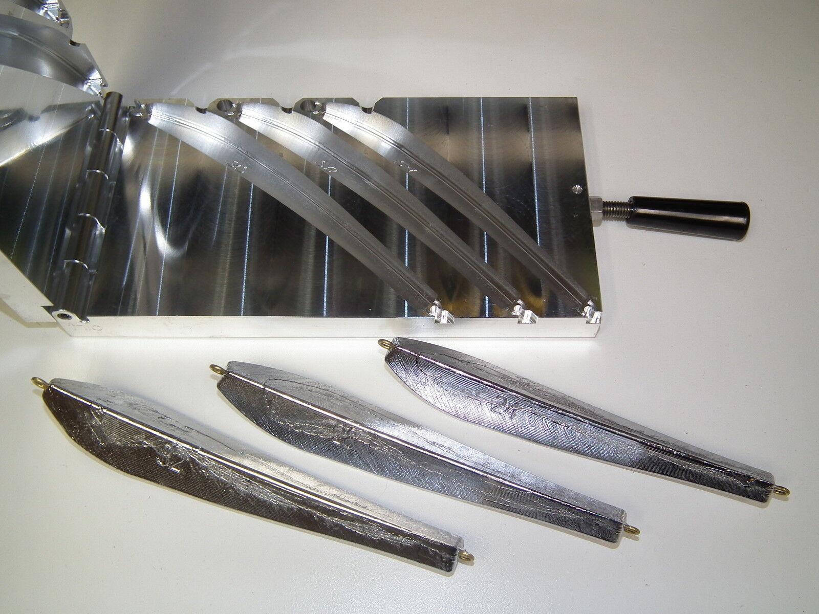 Saltwater Cod Jig mold 24,28,32oz CNC Aluminum