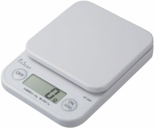 WH KF-200-WH 200 Tanita digital cooking scale 2 kg//1 g white KF