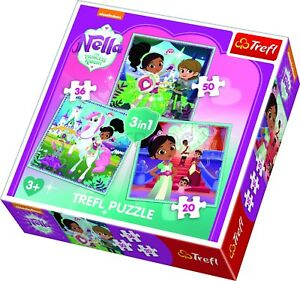 Trefl-3-en-1-20-36-50-Piece-Enfants-nella-la-princesse-chevalier-Jigsaw-Puzzle-Neuf