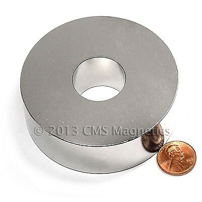"Neodymium Ring Magnet N45 3""OD x 1""ID x 1""H Strong NdFeB Rare Earth Magnets Lot1"