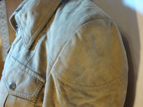 Tahari scamosciata cemento vera pelle in pieno Penny 98152e color Giacca L Nuovo Elie H6dqH