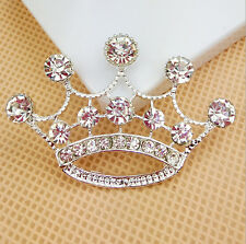 1pc Alloy Rhinestone Crown Buttons Cabochon DIY Cell Phone Case Decoration Dc