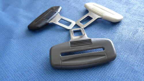 AUDI A1//A2//A5//A7//A8 BLACK SEAT BELT ALARM BUCKLE KEY CLIP SAFETY CLASP STOP