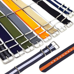 Universal-Nylon-Weaving-Loop-Watch-Strap-Band-Heavy-Duty-18-20-22-mm