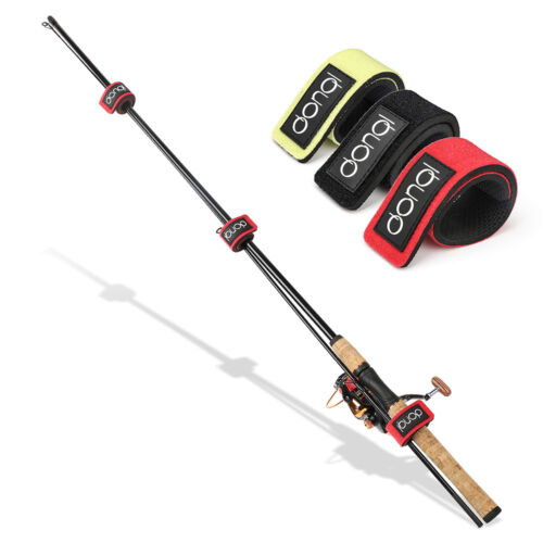 5x Neoprene Foam Fishing Rod Tie Strap Belt Elastic Wrap Band Pole Holder Tackle