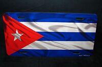 Cuba Flag Metal Car License Plate Tag Placa De Licencia De Bandera Cubana