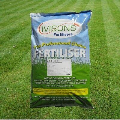 Ivisons Autumn/Winter Professional Lawn Feed Grass Fertiliser & Moss Killer 25Kg