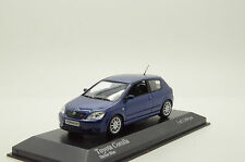 RARE !! Toyota Corolla 3 Doors 2001 Blue Metallic Minichamps 166100 1/43