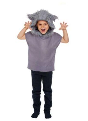 Children/'s Red Riding Hood Lupo Cattivo Libro Giorno Costume Di Halloween Età 4-12