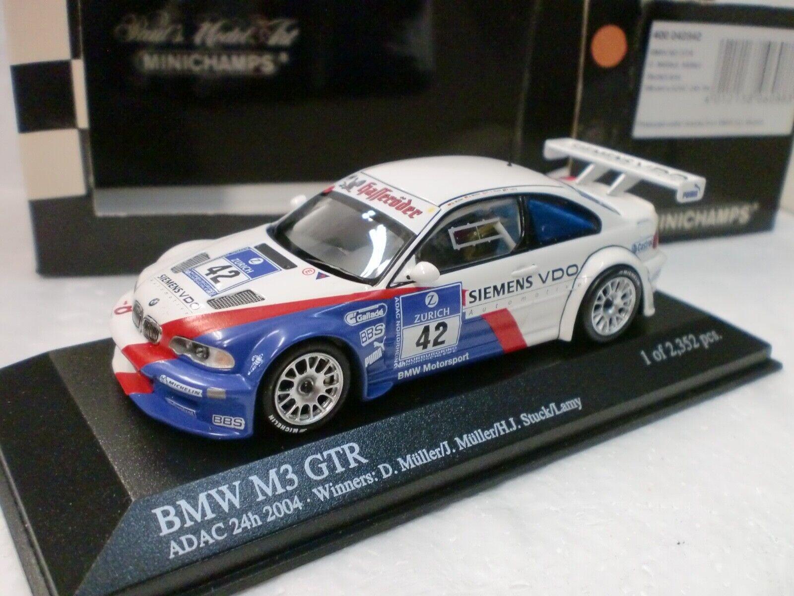 MINICHAMPS 1 43 - BMW M3 GTR WINNER ADAC 24H 2004 - 400 042342