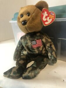 TY Beanie Baby – HERO USA – Flag on Chest – Teddy Bear - 2003