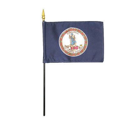 """Nepal Miniature Fabric Hand Held Table Top Desk Flag Polyester 4/"""" x 6/"""""""