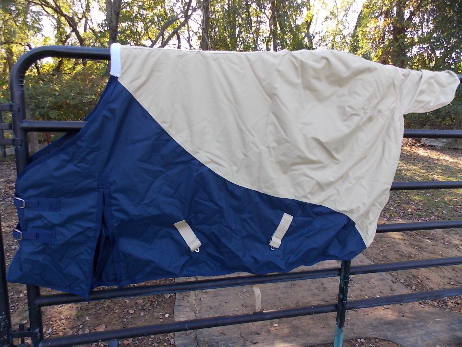 PRO-CRAFT 600D HEAVY WEIGHT BLANKET WEATHER & WATER RESISTANT SZ 72 NAVY TAUPE