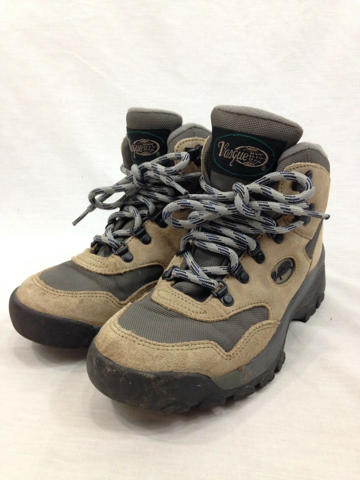 Vasque Hiking Stiefel Damenschuhe 7.5 Beige grau Lace Up Ankle Outdoor Adventure