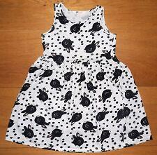 H&M Light Grey Cotton Dress with rabbits size 128/134