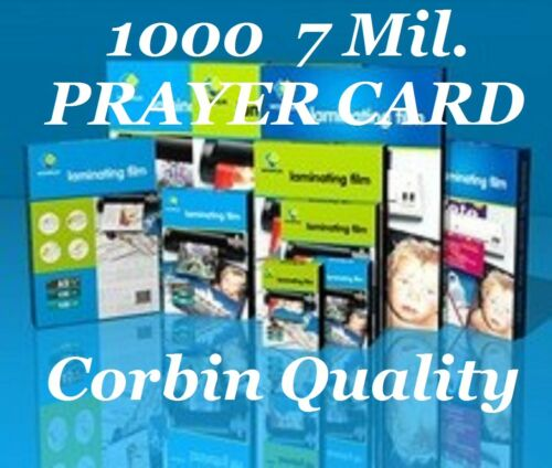 1000 Prayer Card Laminating Pouches Sheets 7 Mil 2-3//4 x 4-1//2 Quality