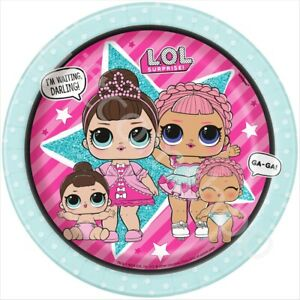 LOL-Surprise-7-034-Paper-Plates-Girls-Birthday-Party-Disposable-Tableware-Pk-8