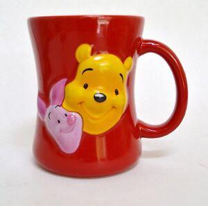 Disney-Store-Pooh-amp-Piglet-Friends-Forever-Red-Embossed-4-5-034-Mug