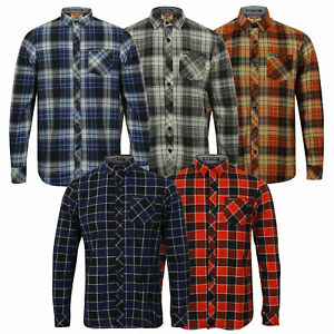 Mens-Shirt-Tokyo-Laundry-Tartan-Check-Flannel-Top-Collared-Long-Sleeved-Casual