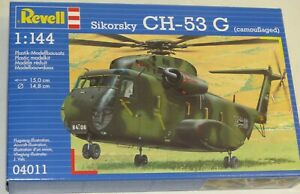 Revell-04011-CH-53-G-Bausatz-Sikorsky-Transporthubschrauber-Plastik-1-144-OVP