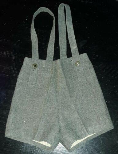 vintage 1940s boys button suspender wool shortalls