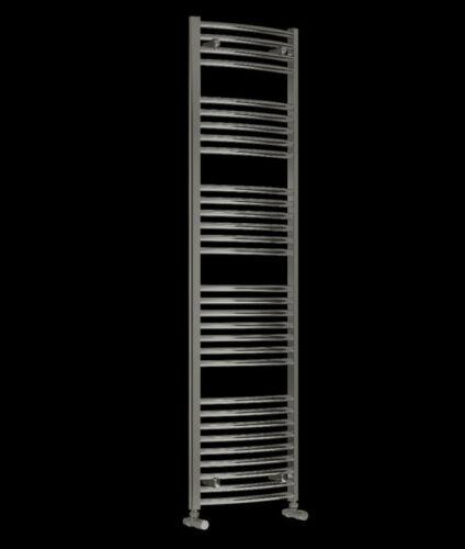 Reina 1800mm Diva Curved Chrome Heated Towel Rail 5Size