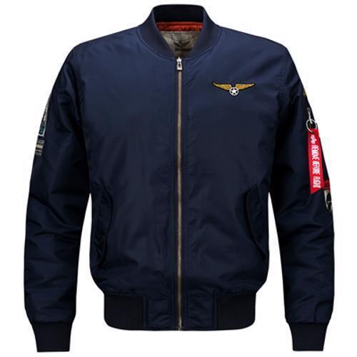 High Quality Thick Winter Men Bomber Jacket Mandarin Collar Zipper Closure Type