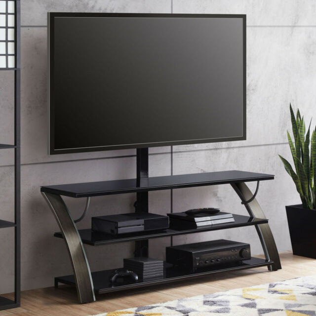 """3-in-1 Flat Panel TV Stand For 65"""" Screen Entertainment Media Console Shelves"""