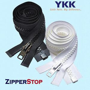 Zipperstop YKK #5 Moulé PLASTIQUE Séparation~ Noir ~ Veste Fermeture Éclair