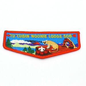 Tu-Cubin-Noonie-Lodge-508-OA-Boy-Scout-Flap-Patch-BSA-WWW-red-border