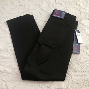 CHAPS Womens Straight Bi-Stretch Twill-Pant Business Casual Pants