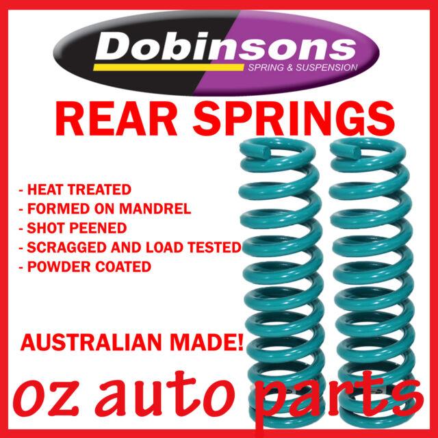 REAR HEAVY DUTY DOBINSONS 80mm RAISED COIL SPRINGS FOR TOYOTA FJ CRUISER 2006-ON