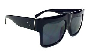 oversized black aviators  Flat Top Square Aviators Oversized Black Dark Lenses Celebrity ...