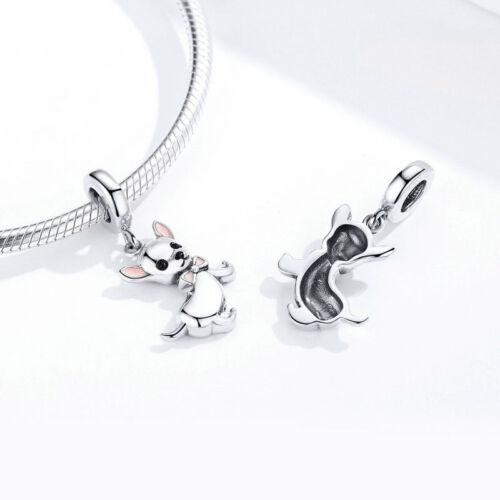 Soild 925 Sterling Silver Charm Pendant Jewelry Fits Fashion Bracelet /& Necklace
