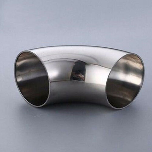 2in 51mm Stainless Steel Car Exhaust Weldable 90° Bend Elbow Pipe Fitting Kit.
