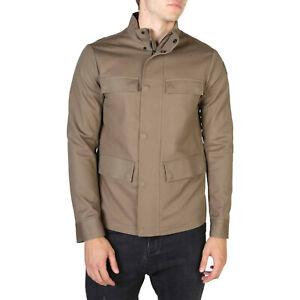 EMPORIO-ARMANI-Men-039-s-Bomber-Jacket-Tan-Brown-w-Mandarin-Collar-New-amp-Authentic