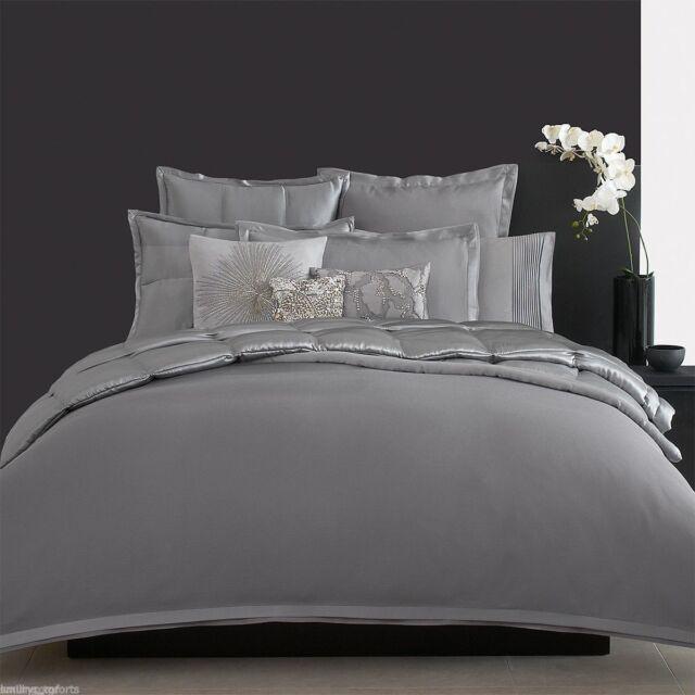 Donna Karan Modern Classics 2 Standard Queen Pillowshams Mercury - Donna-karans-modern-classics-bedding-collection