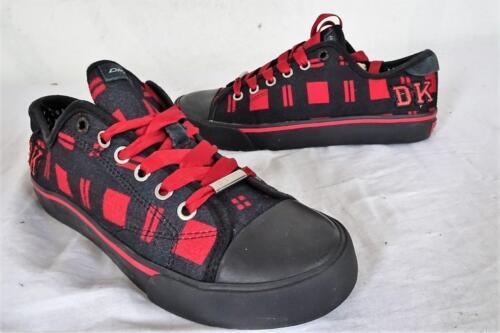 de 5 514 uk baja Us Dkny de altura 5 Y Fx Negro Zapato 467 4 6 cordones rojo con lona Cg5x4wXq6