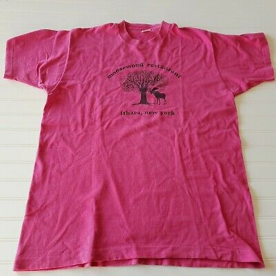 Vintage Tennessee Est 1796 State Shirt Size XL Pink Striped Single Stitch Tee Made In USA