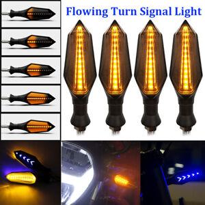 4X-Motorcycle-12-LED-Turn-Signal-Indicators-Flowing-Water-Light-Amber-Blinker