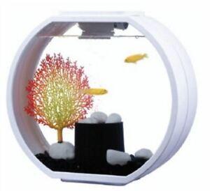Deco O Mini Aquarium 10l Air Pump Filter Decoration Touch Led Lighting