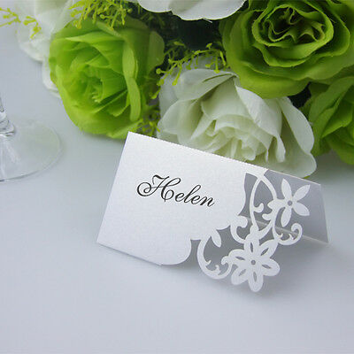 Laser cutting  Flowers Wedding Table Name Place Card ,Wedding table Decoration
