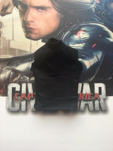 Hot Toys Soldado del Invierno Guerra Civil MMS351 Negro T-Shirt Suelto Escala 1/6th