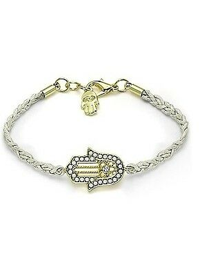 White HAMSA BRACELET.... Jewish Good Luck Lucky Against Evil Eye String Kaballah