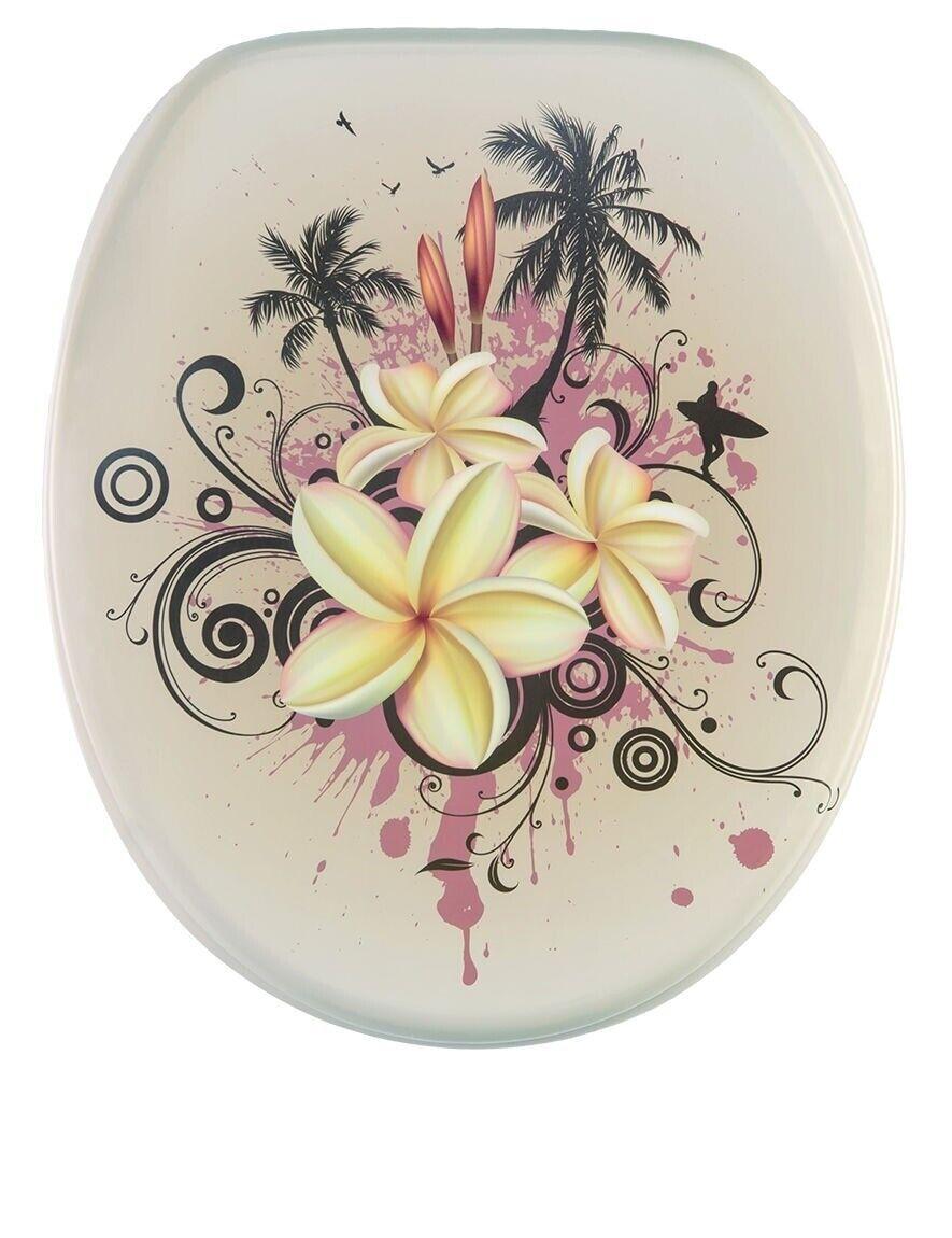 Sanilo Asiento del Inodoro WC Hermoso Diseño genuino revestimiento antibacterial Tropical