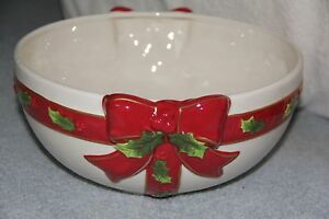 """St Nicholas Square HOLLY JOLLY - 11"""" Bowl NEW WITH TAGS"""
