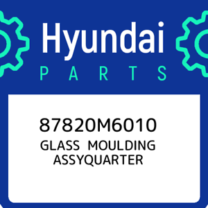 87820M6010 Hyundai Glass moulding assyquarter 87820M6010 New Genuine OEM Part