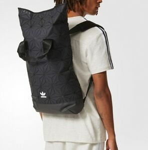 38809bbeb6 ADIDAS ORIGINALS 3D ROLL-TOP BACKPACK BLACK BNWT ISSEY MIYAKE STYLE ...