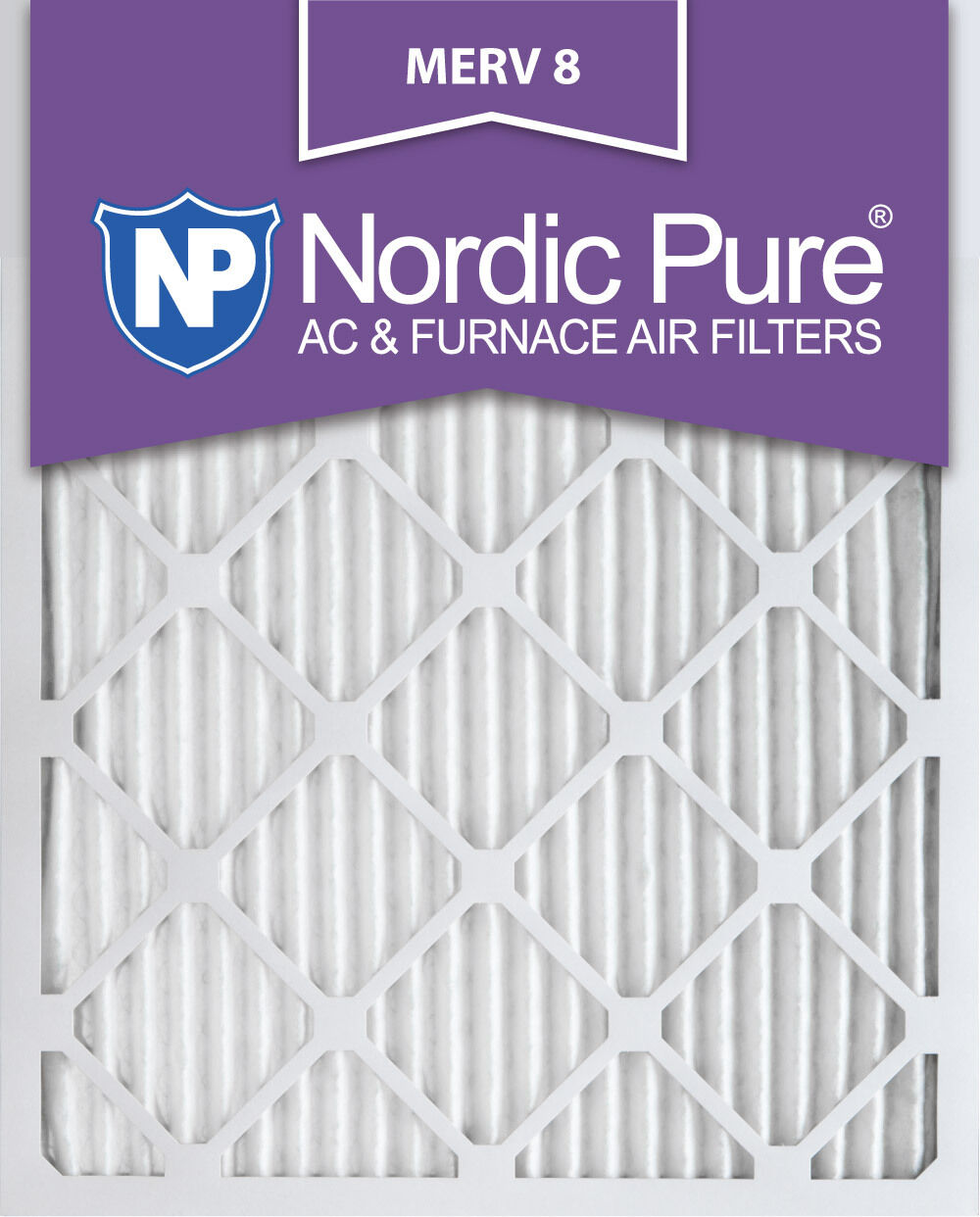 Nordic Pure 21x21x1 MERV 8 Pure Carbon Pleated Odor Reduction AC Furnace Air Filters 6 Pack