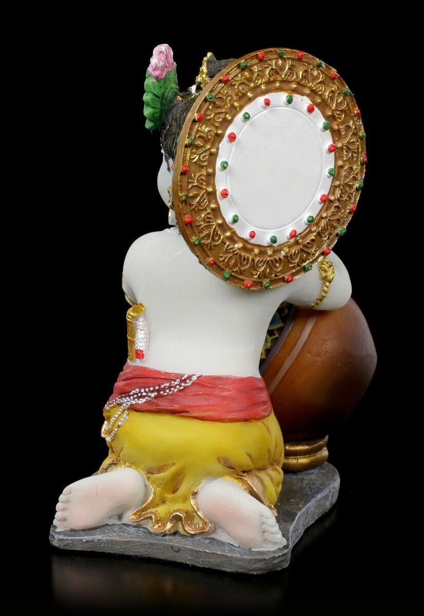 Baby Krishna Figura stiehlt BURRO - Fantasy INDIANO DIVINITÀ DIVINITÀ DIVINITÀ dekostatue ec1965